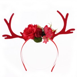 Antlers Headband - Red