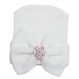 Baby Cotton Caps - White
