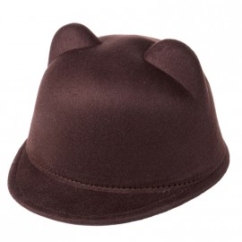 Toddler Cap with Ears (Brown)