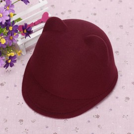 Toddler Cap with Ears (Burgundy)
