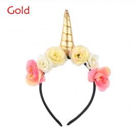 Unicorn Headband - Gold