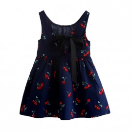 Abigail - Dark Blue Cherry Dress