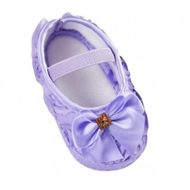Bejeweled Moccasins with Bow - Purple