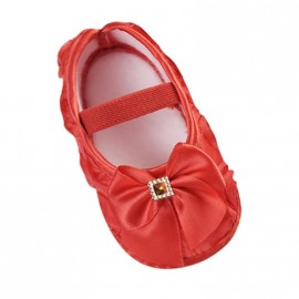 Bejeweled Moccasins with Bow - Red