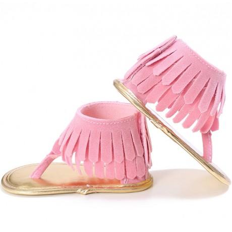Soft Bottom Sandal Moccasins - Pink