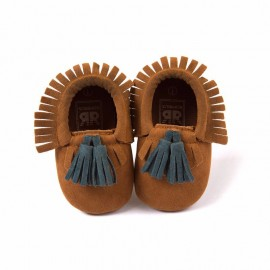 Patent Leather Moccasins with Tassels