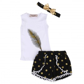Feather Outfit with Headband