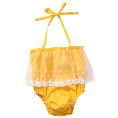 Yellow Halter Onesie