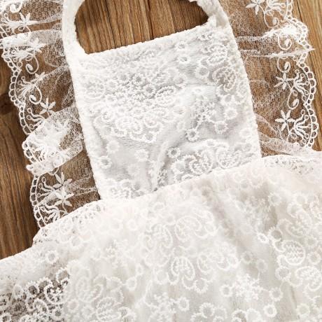 Apron Onesie - White