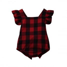 Checkered Onesie - Red/Black