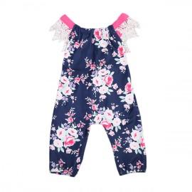 Blue and Pink Floral Jumper