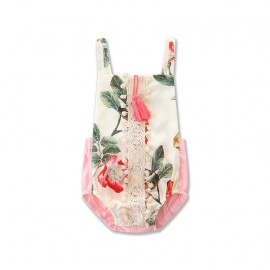 Floral  Romper with Tassels