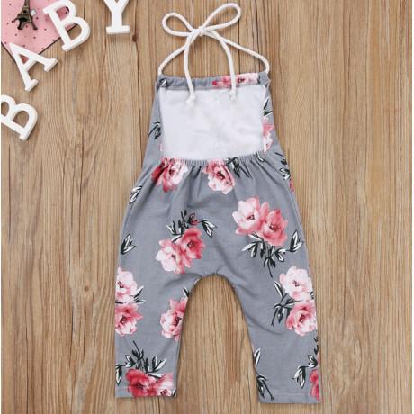 Floral Jumper - Gray/Pink