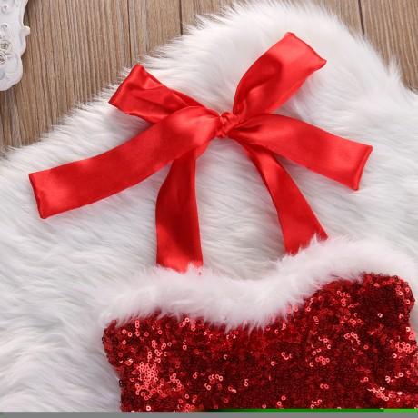 Santa Romper - Red/White