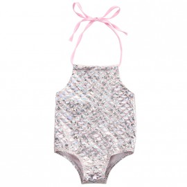 Mermaid Bathing Suit - Silver/Pink