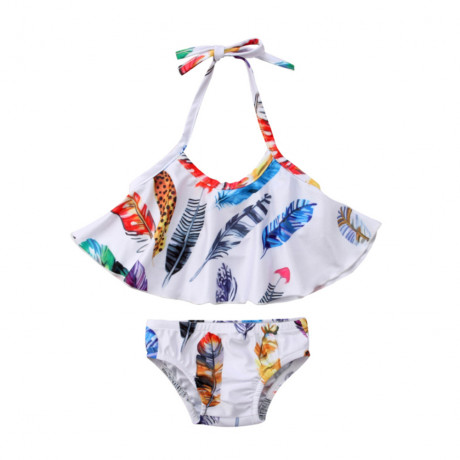 Two Piece Feather Swimsuit